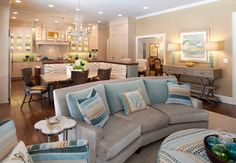 San Marco Family Home - transitional - living room - jacksonville - by Ellen S. Dyal Interiors, Inc.