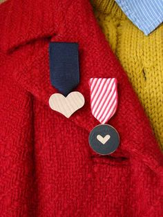 handmade heart medals from Aesthetic Outburst - for Valentines or modify for whatever occasion.