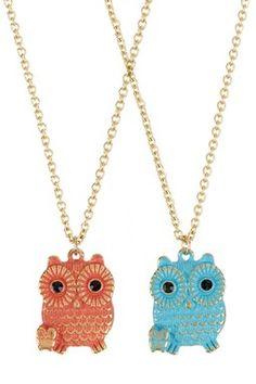 HauteLook | Animal Instinct: Jewelry Shop: Baby Owl Necklace Set