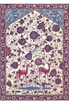100x140_iznik_cini_gülser Tile Murals, Tile Art, Mosaic Tiles, Islamic Art Pattern, Pattern Art, Turkish Tiles, Panel Art, Illuminated Manuscript, Craft Patterns