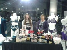 All set up for the Jacksons event.! #lingerie