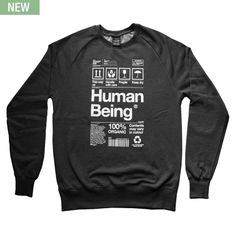 Origin68 — HUMAN BEING - Black Heather Sweatshirt