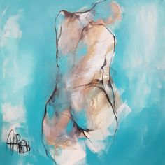 The contemporary artwork Force vitale is a modern painting from the artist Martine Chaperon. This is a contemporary painting, unique and originale, Nude style. Figure Painting, Painting & Drawing, Figure Sketching, Figure Drawing, Art Et Illustration, Arte Pop, Life Drawing, Erotic Art, Contemporary Paintings