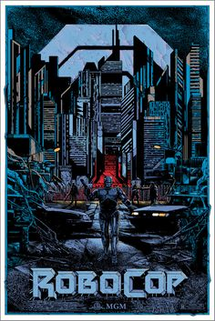 Kilian Eng RoboCop Poster Release From Grey Matter Art Best Movie Posters, Movie Poster Art, New Poster, Cool Posters, Films Cinema, Cinema Posters, Fiction Movies, Science Fiction, Anos 80