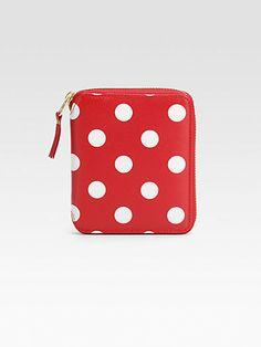 Comme des Garcons - Polka Dot Leather Wallet - Saks.com