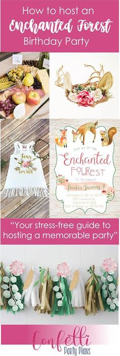 This party planning guide includes everything you need to host a stunning Enchanted Forest or FOURest party for your little one!  It includes links to purchase everything you need, saving you time, stress, and money.  This is your easy, go-to guide to hosting a memorable party for your loved ones!