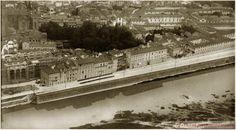 Immagine dal Piazzale Michelangelo degli anni '30, a sinistra la biblioteca Nazionale in costruzione.#fIRENZE.