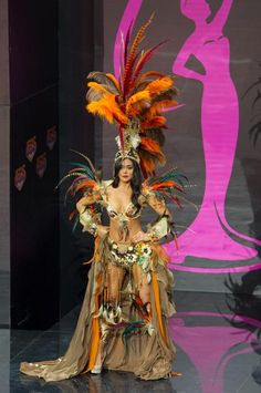 Miss Mexico - Cynthia Duque: Miss Mexico brought her costume to new heights! While we're not entirely sure what it represents, it looks amazing on her. Credit: Darren Decker/Miss Universe2013