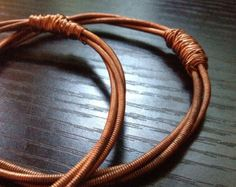 Copper Bracelet Upcycled From Piano String