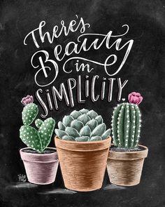 Cactus Art Print Garden Art Cactus Print There Is Beauty In