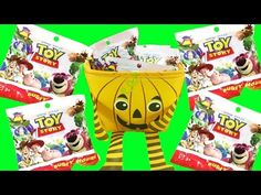 We're opening a bunch of super cute Disney Pixar Toy Story blind bags right out of a halloween pumpkin surprise bucket! We're trying to collect the whole set...
