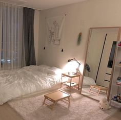 3 Steps to Decorating Your Narrow Bedroom with a Minimalist Concept Minimalist Bedroom Bedroom Concept decorating Minimalist Narrow Steps Room Ideas Bedroom, Teen Room Decor, Small Room Bedroom, Home Bedroom, Bedroom Decor, Bed Room, Korean Bedroom Ideas, Narrow Bedroom Ideas, Girls Bedroom