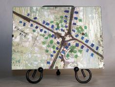 Crossroads  An original Architectural Fiber by ArtQuiltMapsETC, $48.00