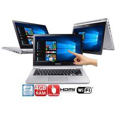 Notebook 2 em 1 Touch Samsung Style Intel i5-7200U 4GB 500GB HDMI Wireless Bluetooth LED Full HD 13.3 << R$ 242910 >>