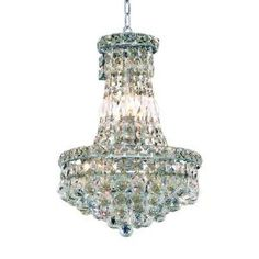 Elegant Lighting 6 Light Chandelier Chrome Finish, Clear  Crystal-EL2527D12C/RC at The