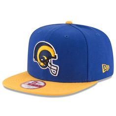 Los Angeles Rams New Era Historic Logo Baycik 9FIFTY Snapback Adjustable Hat - Royal/Gold - $29.99