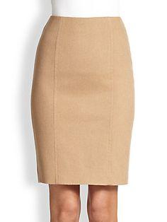 Max Mara Sargano Camel Hair Pencil Skirt