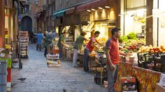 "Preparing for the day in the Via Drapperie - ""Ciao from Bologna: taking it slow"" by solotraveler"