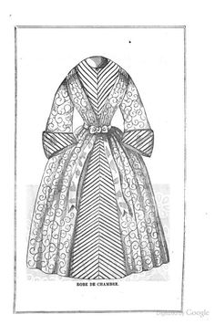 """1861, Arthur's Illustrated Home Magazine. """"Robe de Chambre."""""""