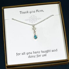 Mom Necklace Mom Gifts Mothers Day Gift by StarringYouJewelry #mom #motherinlaw #weddingparty
