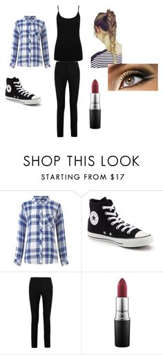 """""""Casual"""" by sk8terqueen on Polyvore featuring Rails, Converse, Yves Saint Laurent, MAC Cosmetics and M&Co"""