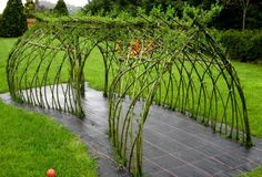 This is a charming Living Willow Tunnel that I completed for Brookfields Childrens Nursury Powys to add to their play area. It was built a. Landscape Design, Garden Design, Living Willow, Gazebo, Pergola, Sensory Garden, Natural Playground, Garden Cottage, Garden Trellis