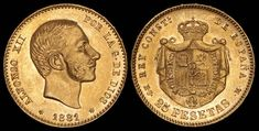 World Coins, Spain, Auction, Personalized Items, Antiques, Mad, Collection, Things To Sell, Coining