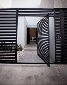 Door designs: 40 modern doors perfect for every home - Architecture Beast Tor Design, Fence Design, Entrance Design, Front Gates, Entrance Gates, Main Entrance, Exterior Design, Interior And Exterior, Pivot Doors