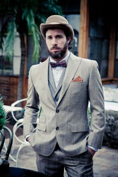 I can picture Scott and groomsmen in some old school suits.......not the hat......maybe cap????