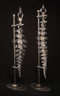 Spines on stands. Andy Paiko.