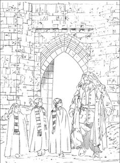 Harry Potter Coloring Pages Printable - Free Coloring Sheets Harry Potter Hermione, Chateau Harry Potter, Harry Potter Day, Classe Harry Potter, Harry Potter Colors, Harry Potter Quilt, Harry Potter Houses, Harry Potter Birthday, Colouring Pics