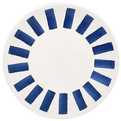 Heal's Ink Side Plate ($8.66) ❤ liked on Polyvore featuring home, kitchen & dining, dinnerware, blue, blue dishes, colored dishes, porcelain dishes, porcelain dinnerware and blue plate