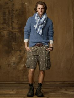 This is why they have models, if I tried to wear a scarf like that, they'd put me in a tower to ring a bell...