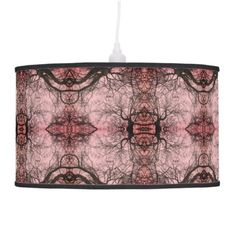 Cool Unique Pink and Black Abstract Pattern Lamp - girly gift gifts ideas cyo diy special unique