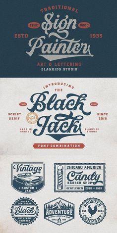 Black Jack Font Combination. fonts, font ideas, font inspiration, font typography, font graphic, beautiful fonts. Typography Fonts, Lettering, Serif Font, Sans Serif, Graphic Design Fonts, Food Trucks Near Me, Font Combinations, Bra Pattern, Brush Script