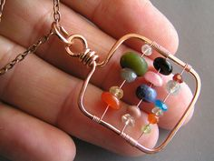 jewelry making   Abacus Pendant - Beaded Purses, Belts, & Misc