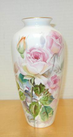 Noritake Bone China Nippon Toki Kaisha Japan Floral Vase