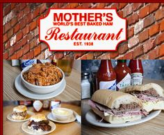 Mother's Restaurant - New Orleans - World's Best Baked Ham - 401 Poydras, New Orleans, LA 70130 Tel: Mom says go for breakfast. Everyone says get the bread pudding!
