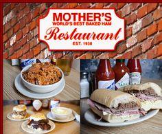 Mother's Restaurant - New Orleans - World's Best Baked Ham - 401 Poydras, New Orleans, LA 70130 Tel: 504-523-9656