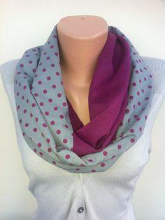 Infintity Women's Scarves Purple Loop Scarf Turkish by ScarfAngel, $18.00