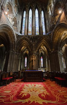 Glasgow Cathedral--this photo cannot show this cathedral's full impact