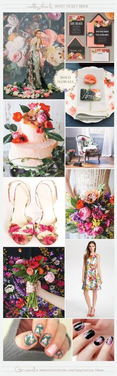 Claire Pettibone featured on Sweet Violet Bride's Wedding Inspiration Board #21: Bold Florals