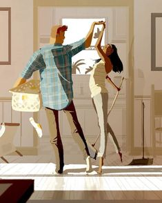 Huffington Post Kelsey Borresen Artist Pascal Campion Husband s Illustrations Beautifully Capture The Cozy Feeling Of Love HuffPost Couple Amour Art, Art Love Couple, Love Cartoon Couple, Love Art, Paar Illustration, Couple Illustration, Pascal Campion, Aesthetic Couple, Cozy Aesthetic