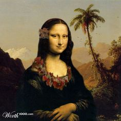 Mona Tropica - Worth1000 Contests✖️Mona Lisa [Stef et Mag] (Gioconda / Mona Lisa)✖️Fosterginger.Pinterest.Com.✖️More Pins Like This One At FOSTERGINGER @ Pinterest ✖️No Pin Limits✖️