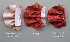 antiquelilac [tutorial for doll dress with rolled seams, lined bodice, banded sleeves, picot beaded neckline]