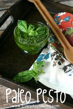 Paleo Pesto Recipe. Adding nutritional yeast is a great way to give pesto that cheesy flavor without the dairy.