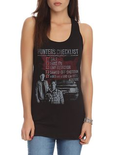 Supernatural Hunters Checklist Girls Tank Top | Hot Topic I just got this! I love it!