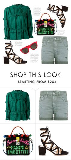 """""""Saturday..."""" by badassbabyboomer ❤ liked on Polyvore featuring Étoile Isabel Marant, AG Adriano Goldschmied, Dolce&Gabbana, Gianvito Rossi and CÉLINE"""