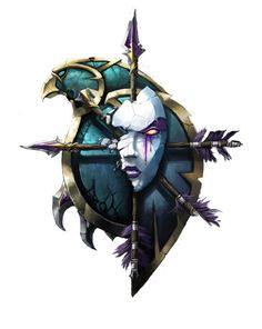 World of Warcraft Undead Icon.  Great framing! Source: unknown.