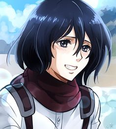 Mikasa Ackerman [Shingeki no Kyojin] Eren And Mikasa, Armin, Icons Girls, Sisters Images, Connie Springer, Rivamika, Attack On Titan Anime, Anime Profile, Chef D Oeuvre